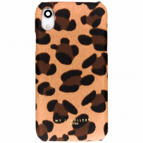 Design Hardcase Backcover voor iPhone Xr - Leopard Camel