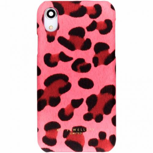 Design Hardcase Backcover voor iPhone Xr - Leopard Pink