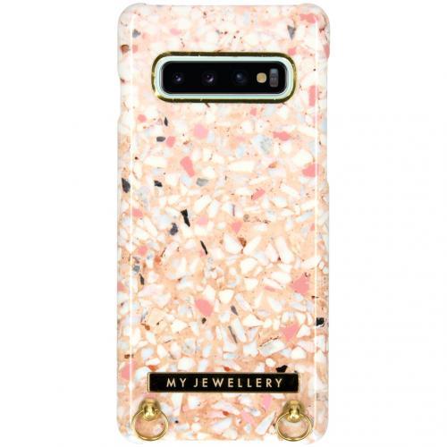 Design Hardcase Koordhoesje voor de Samsung Galaxy S10 - Pink Brick