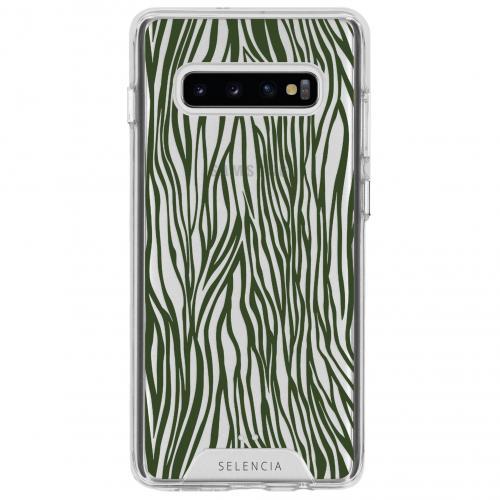 Design Impact Backcover voor de Samsung Galaxy S10 Plus - Zazzy Zebra