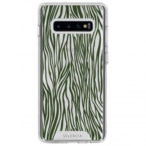 Design Impact Backcover voor de Samsung Galaxy S10 - Zazzy Zebra