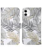 Design Softcase Book Case voor de iPhone 11 - Glamour Botanic