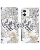 Design Softcase Book Case voor de iPhone 12 Mini - Glamour Botanic