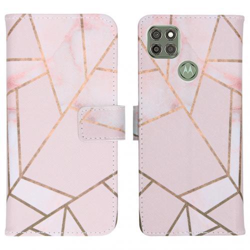 Design Softcase Book Case voor de Motorola Moto G9 Power - Pink Graphic