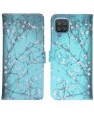 Design Softcase Book Case voor de Samsung Galaxy A12 - Bloesem