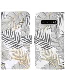 Design Softcase Book Case voor de Samsung Galaxy S10 - Glamour Botanic