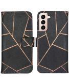 Design Softcase Book Case voor de Samsung Galaxy S21 - Black Graphic