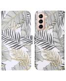 Design Softcase Book Case voor de Samsung Galaxy S21 - Glamour Botanic