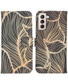 Design Softcase Book Case voor de Samsung Galaxy S21 Plus - Golden Leaves