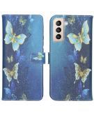 Design Softcase Book Case voor de Samsung Galaxy S21 Plus - Vlinders