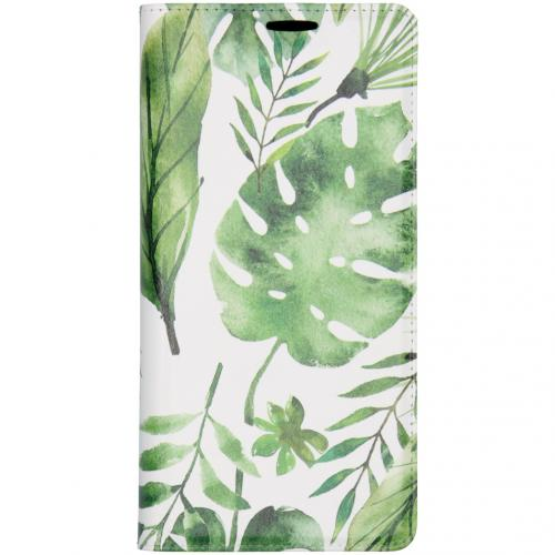 Design Softcase Booktype voor de Huawei Mate 30 Pro - Monstera Leafs
