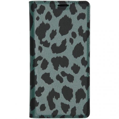 Design Softcase Booktype voor de Huawei Mate 30 Pro - Panter Groen