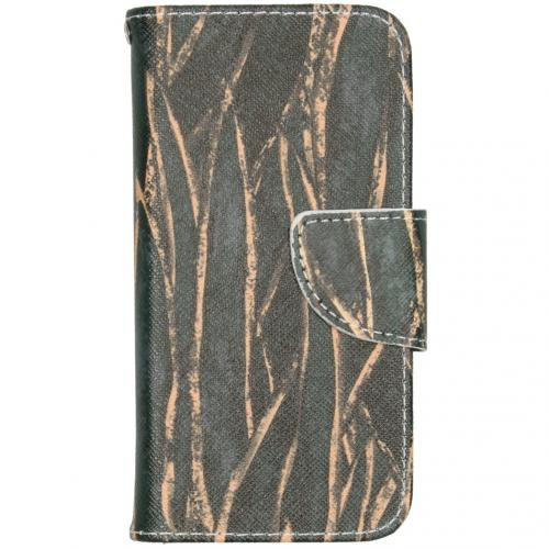 Design Softcase Booktype voor de iPhone 12 5.4 inch - Wild Bladeren