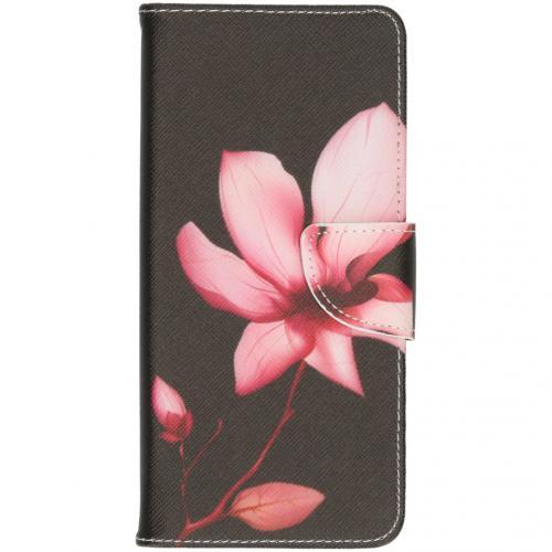Design Softcase Booktype voor de OnePlus 7T - Bloemen