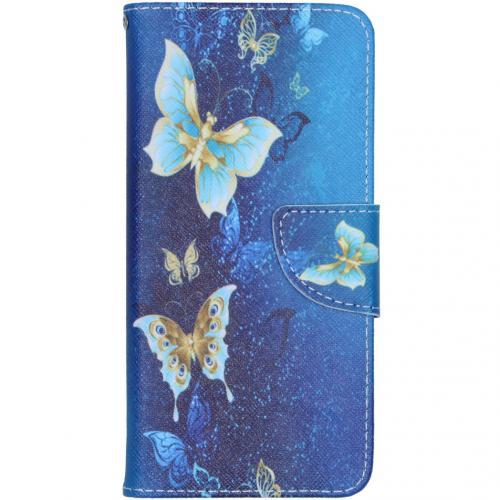 Design Softcase Booktype voor de Samsung Galaxy A41 - Vlinders