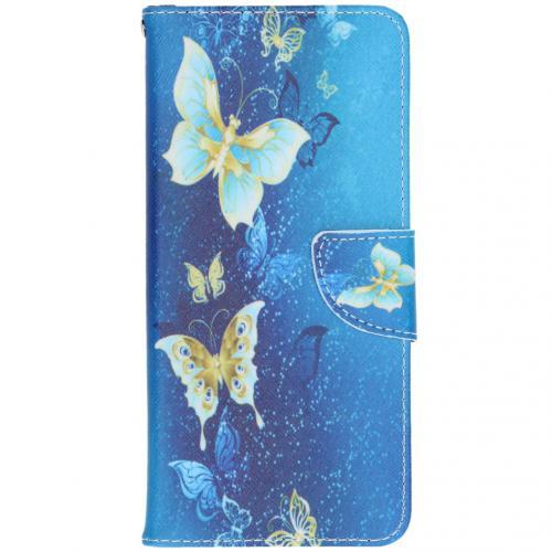 Design Softcase Booktype voor de Samsung Galaxy A42 - Vlinders