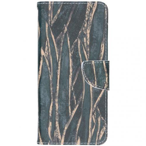 Design Softcase Booktype voor de Samsung Galaxy A42 - Wild Leaves