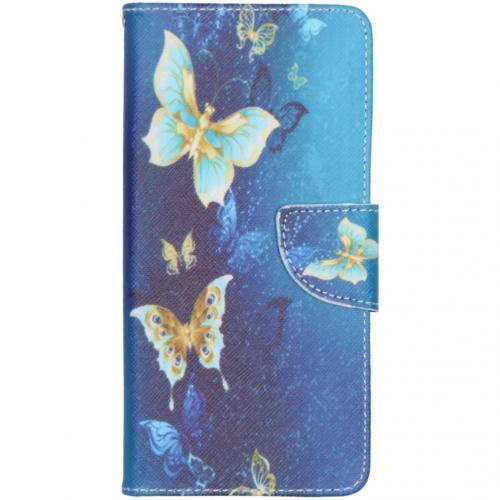 Design Softcase Booktype voor de Samsung Galaxy A51 - Vlinders