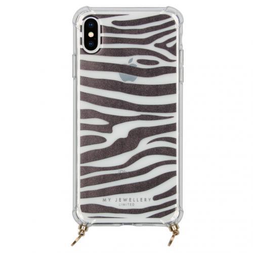 Design Softcase Koordhoesje voor de iPhone Xs Max - Zebra