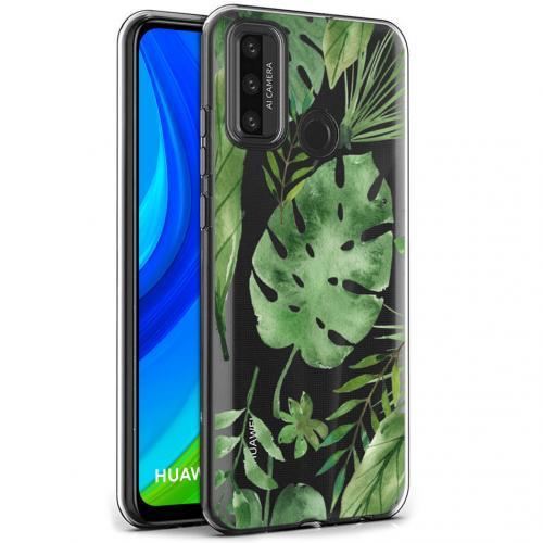 Design voor de Huawei P Smart (2020) hoesje - Bladeren - Groen