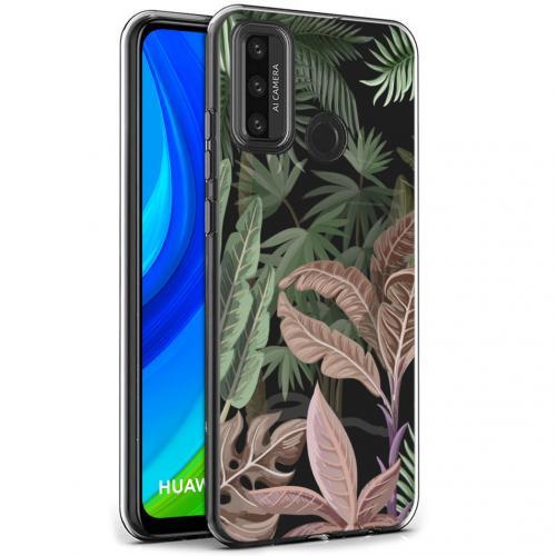 Design voor de Huawei P Smart (2020) hoesje - Jungle - Groen / Roze
