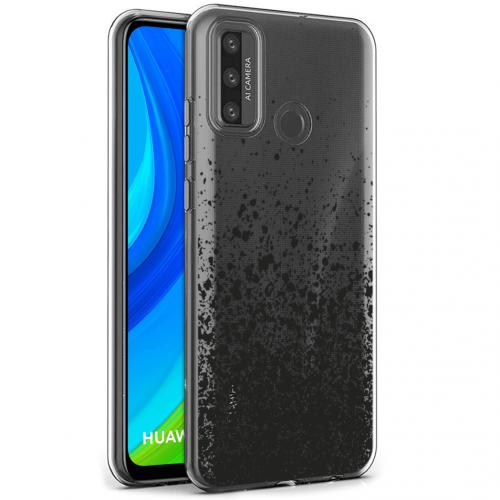 Design voor de Huawei P Smart (2020) hoesje - Spetters - Zwart