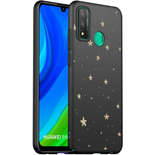 Design voor de Huawei P Smart (2020) hoesje - Sterren - Zwart / Goud