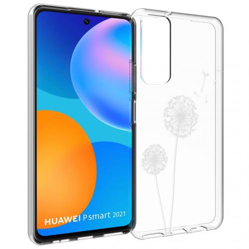 Design voor de Huawei P Smart (2021) hoesje - Paardenbloem - Wit
