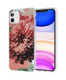 Design voor de iPhone 11 hoesje - Grafisch - Bloem Roze