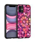 Design voor de iPhone 11 hoesje - Grafisch - Roze Bling