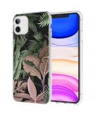 Design voor de iPhone 11 hoesje - Jungle - Groen / Roze