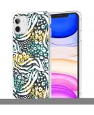 Design voor de iPhone 11 hoesje - Jungle - Wit / Zwart / Groen