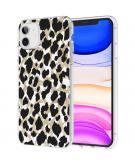 Design voor de iPhone 11 hoesje - Luipaard - Goud / Zwart