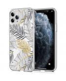 Design voor de iPhone 11 Pro hoesje - Bladeren - Zwart / Goud