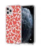 Design voor de iPhone 11 Pro hoesje - Hartjes - Rood