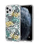 Design voor de iPhone 11 Pro hoesje - Jungle - Wit / Zwart / Groen