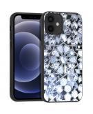 Design voor de iPhone 12 Mini hoesje - Grafisch - Zilver Bling