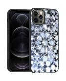 Design voor de iPhone 12 (Pro) hoesje - Grafisch - Zilver Bling