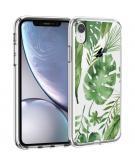 Design voor de iPhone Xr hoesje - Bladeren - Groen