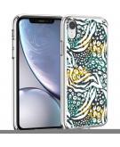 Design voor de iPhone Xr hoesje - Jungle - Wit / Zwart Groen