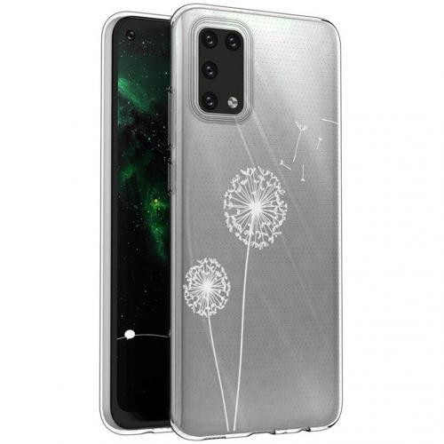 Design voor de Samsung Galaxy A02s hoesje - Paardenbloem - Wit