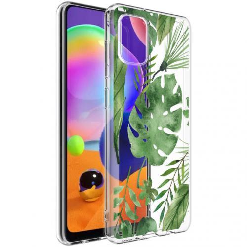Design voor de Samsung Galaxy A31 hoesje - Bladeren - Groen