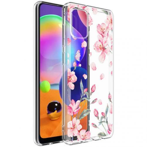 Design voor de Samsung Galaxy A31 hoesje - Bloem - Roze