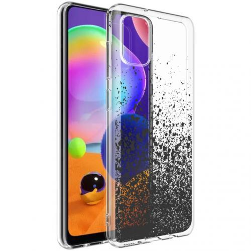 Design voor de Samsung Galaxy A31 hoesje - Spetters - Zwart