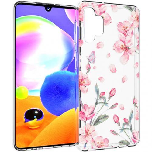 Design voor de Samsung Galaxy A32 (5G) hoesje - Bloem - Roze