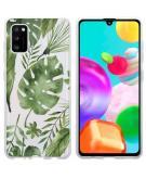Design voor de Samsung Galaxy A41 hoesje - Bladeren - Groen