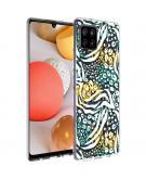 Design voor de Samsung Galaxy A42 hoesje - Jungle - Wit / Zwart / Groen