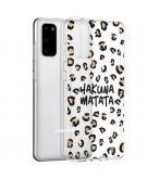 Design voor de Samsung Galaxy S20 hoesje - Luipaard - Bruin / Zwart