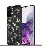 Design voor de Samsung Galaxy S20 hoesje - Vlinder - Zwart / Wit
