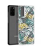Design voor de Samsung Galaxy S20 Plus hoesje - Jungle - Wit / Zwart / Groen